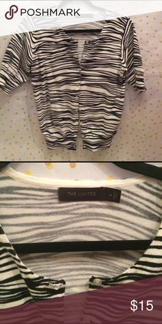 Limited zebra cardigan Perfect cardigan for jeans or that little black dress! Great condition, worn once. The Limited Sweaters Cardigans