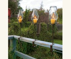 Perfect for my deck! Napa Style Glass Hurricane Lanterns