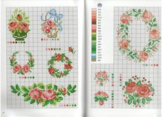 "Photo from album ""Старинные схемы"" on Yandex. Cross Stitch Needles, Cross Stitch Rose, Cross Stitch Borders, Cross Stitch Flowers, Cross Stitching, Cross Stitch Embroidery, Hand Embroidery, Cross Stitch Patterns, Shape Chart"