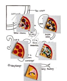 NO SEW Make-a-Pizza Set for Flannel or Felt Boards - DIY Template