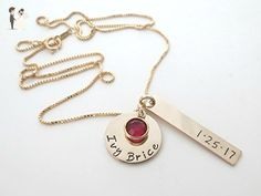 Personalized Gold Necklace | Birthstone Jewelry | Mother | Kids Names - Wedding nacklaces (*Amazon Partner-Link)
