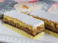 Berlínske rezy Czech Recipes, Ethnic Recipes, Nutella, Tiramisu, Yummy Treats, Cheesecake, Food And Drink, Cooking Recipes, Tasty