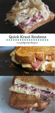 Quick Kraut Reubens
