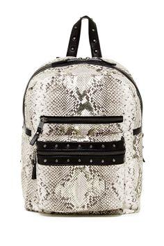 d29e89062654 Danica Snake Skin Leather Backpack by Ash on  nordstrom rack Shoulder Strap  Bag
