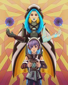 the siren and her apprentice 2k Games, Borderlands 3, Sirens, Video Games, Fandoms, Twitter, Anime, Fictional Characters, Art