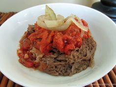 Crock Pot Beef Tongue with Roasted Pepper Sauce-A simple and delicious way to have beef tongue for the first time. This is the best beef you could ever have.