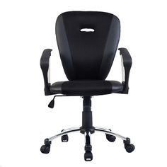 Modern Ergonomic Computer Task Executive Mid-Back Desk Office Chair Black - Chairs - Furniture