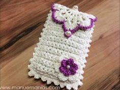 New Crochet Easy Pouch Knitting Patterns Ideas Crochet Phone Cover, Crochet Case, Bag Crochet, Crochet Handbags, Crochet Purses, Crochet Gifts, Crochet Stitches, Free Crochet, Pinterest Crochet