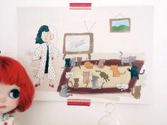 Ilustración Cuentos confundidos Cruella de vil y por milowcostshop Cruela de Vil and the 101 ¿cats?, Confused tale. A cute draw funny and with a backward history