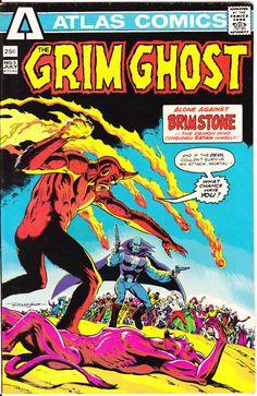 The Grim Ghost 1 Atlas Seaboard Comics Devil Brimstone Son Satan Horror Fear Russ Heath Terror Scary Creepy Nightmare 1975 VFNM by LifeofComics #comicbook #halloween