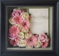 34. Wedding Invitation framed with flowers 12