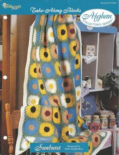 Pattern Sheet Only  The Needlecraft Shop - Take-Along Blocks Afghan Collectors Series - By Aline Suplinskas Copyright 1997  Sunburst  Finished Size: 47x62 Yarn: Worsted Weight  Hook Size: H  Skill Level: Average  This is the original pattern and it is in great condition but it does have some minor creasing across the top. It is punched for a 3-ring binder but the holes do no affect the pattern. This is only an instruction pattern and not a finished product or supplies to make it.  All…