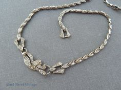 Art Deco Rhinestone Necklace Vintage 1920s by 52ndstreetvintage, $55.00