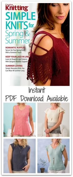 Stay casual and comfy this season as you don Creative Knitting's spring styles, all as soft and wearable as our favorite T-shirt, but with way more polish! #ad #affiliate #knitting #pattern