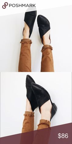 SELLING FAST! Black Mont Blanc Flats Very limited sizing and SELLING FAST! Very similar to Free People but at an affordable cost! NOT FREE PEOPLE. Ships next week! Shoes Flats & Loafers