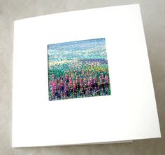 Embroidered art Lavender field beaded embroidered by StitchMikki