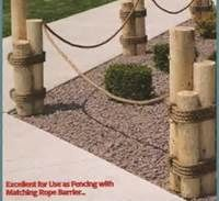 Decorative Nautical Pilings With Rope And Anchor Yards Gardens Beach