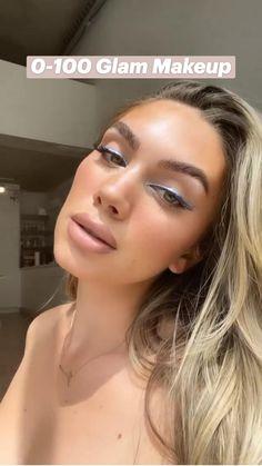 Glam Makeup Look, Glamorous Makeup, Makeup Looks, Eye Makeup, Hair Makeup, Metallic Eyeliner, Winged Eyeliner, Eyeliner Looks, Creative Makeup