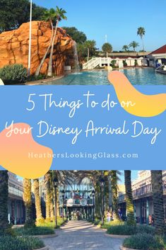5 Things to do on Your Disney Arrival Day (besides going to the parks!) These are my favorite things to do, so click tor ead or save for later! #disney #disneyworld #WDW #disneyresort #disneytip #disneytips #disneyplans Disney Resorts, Disney Vacations, Disney Tips, Disney Love, Disney Activities, Disney World Pictures, Disney World Vacation Planning, Pool Bar, Disney Springs