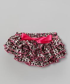 Take a look at the Bubby & Belle Black & Pink Leopard Ruffle Satin Diaper Cover - Infant on #zulily today!