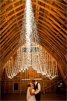 great way to hang twinkle lights for a different look!
