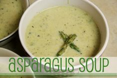 A creamy, clean eating asparagus soup made from fresh asparagus and homemade chicken broth.