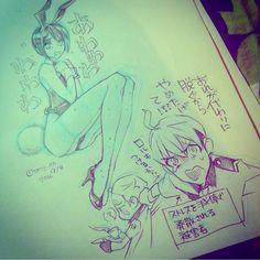 #手癖で女の子を一人描いてください いらない男が付いてくるあたりが手癖 #doodle #bunnygirl #bunny  #罰棄 #槇嶋 #rampage13maxima #rampage13batty