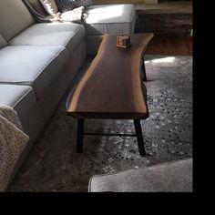Items similar to Modern Live Edge Walnut Desk on Etsy Custom Dining Tables, Walnut Dining Table, Walnut Coffee Table, Coffee Tables, Wood Tables, Walnut Burl, Maple Burl, All Wood Furniture, Bond