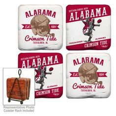 Legacy Athletic Alabama Crimson Tide 4-Piece Tumbled Coaster Set $21.00