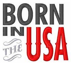 Born in the USA machine embroidery design