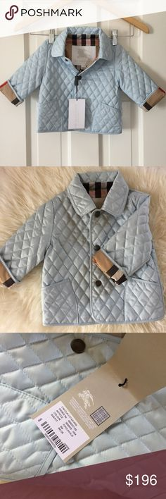 Burberry Baby Coat Authentic Burberry Baby Coat Light Blue 6 Months New with Label Burberry Jackets & Coats