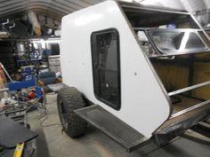 Skerfans New Shuttle Pod Trailer Build Eco Trailer, Diy Camper Trailer, Tiny Camper, Off Road Trailer, Small Trailer, Trailer Build, Utility Trailer, Building A Teardrop Trailer, Teardrop Campers