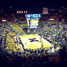 University Of Michigan Basketball crisler-center University Of Michigan Basketball, Michigan Wolverines Basketball, Michigan Athletics, College Basketball, Jordan Basketball, Basketball Shooting, Basketball Goals, Illinois Fighting Illini, Go Big Blue