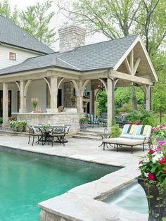 42 Amazing Summer Living Room Outdoor Space Design to Copy Right Now - Outdoor Diy Backyard Patio Designs, Backyard Landscaping, Patio Ideas, Gazebo Ideas, Backyard Gazebo, Pergola Kits, Porch Ideas, Pool And Patio, Backyard Ideas