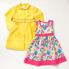 Two Piece Sundress and Trench Coat Set - would be cute for Easter!