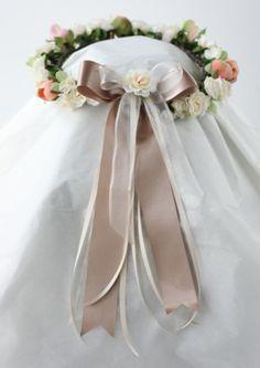 hk0011 リースバッグブーケにあわせるアーティフィシャルフラワーの花冠 @キャメロットヒルズ ys floral…