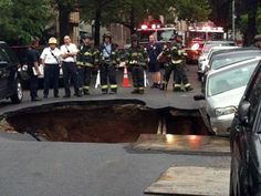 Gigantic Sinkhole Opens Up In Brooklyn And Nearly Swallows Parked Car ~ Bay Ridge, Brooklyn sinkhole: Does anyone out there still think the rate at which these things are appearing is 'normal'?