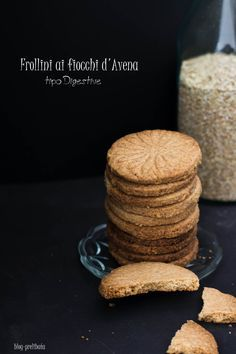 Biscotti con fiocchi d'Avena tipo Digestive Biscotti Biscuits, Biscotti Cookies, Cookie Recipes, Dessert Recipes, Cheesecake, Biscuit Cake, Italian Desserts, Food Inspiration, Sweet Recipes