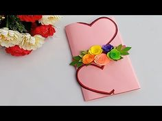 A Beautiful Anniversary card idea | How to make anniversary card at home - YouTube