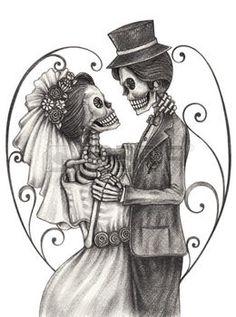 Día de los Muertos wedding day
