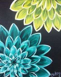 dahlias @missliss1227 Painting idea!                                                                                                                                                     More