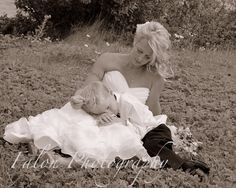 Wedding Photography  Bride with son  Outdoor