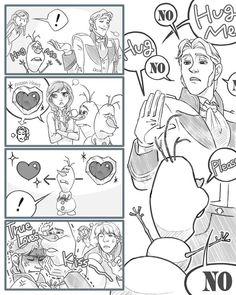 Olaf wants to hug Hans (part 1)