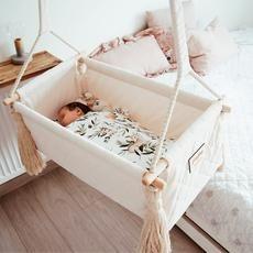 Wooden Baby Swing, Outdoor Wooden Swing, Indoor Swing, Indoor Outdoor, Baby Hammock, Baby Swings, Rope Hammock, Newborn Swing, Hanging Cradle