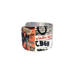 Collage Art Jewelry - Fan Art - - Cuff Bracelet - Punk Rock - Aluminum Music Jewelry - Rock Posters - Hard Core - Sku R17-007