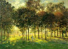 """«Claude Monet:   """"La promenade d'Argenteuil, soleil couchant""""   (1874)»."""