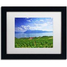 Trademark Fine Art Leman Lake Canvas Art by Philippe Sainte-Laudy, White Matte, Black Frame, Size: 11 x 14