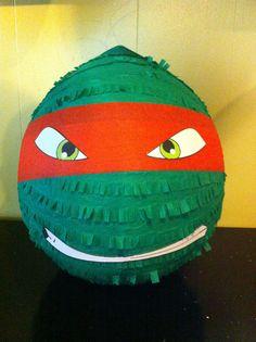 TMNT custom party Pinata Leonardo Raphael by buddyluvo2 on Etsy