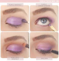Summer eyes by Lauren Conrad Get the perfect summer eye look with purple and rose gold shadows and a swipe of mascara.