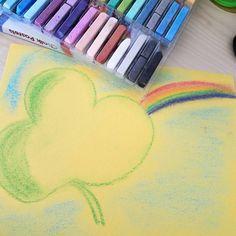 Ten minute chalk pastel.  #feelinglucky☘ #shamrock #rainbows  @chalkpastelart #homeschoolart #YouAREAnArtist Chalk Pastels, Art Tutorials, Rainbow, Feelings, Instagram Posts, Rainbows, Rain Bow, Art Lessons, Drawing Tutorials